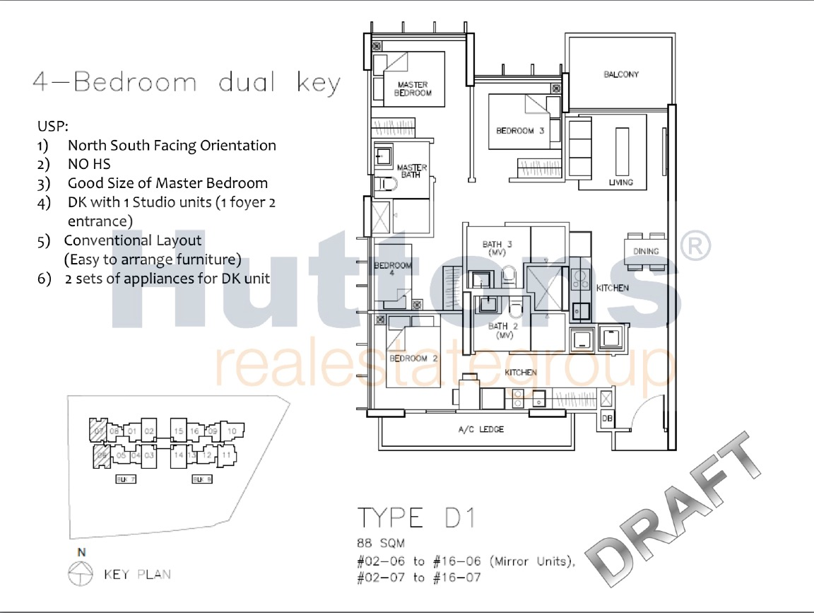 Tre Residences floor plan
