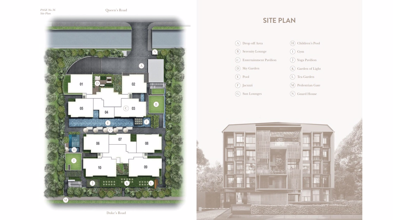 the asana site plan