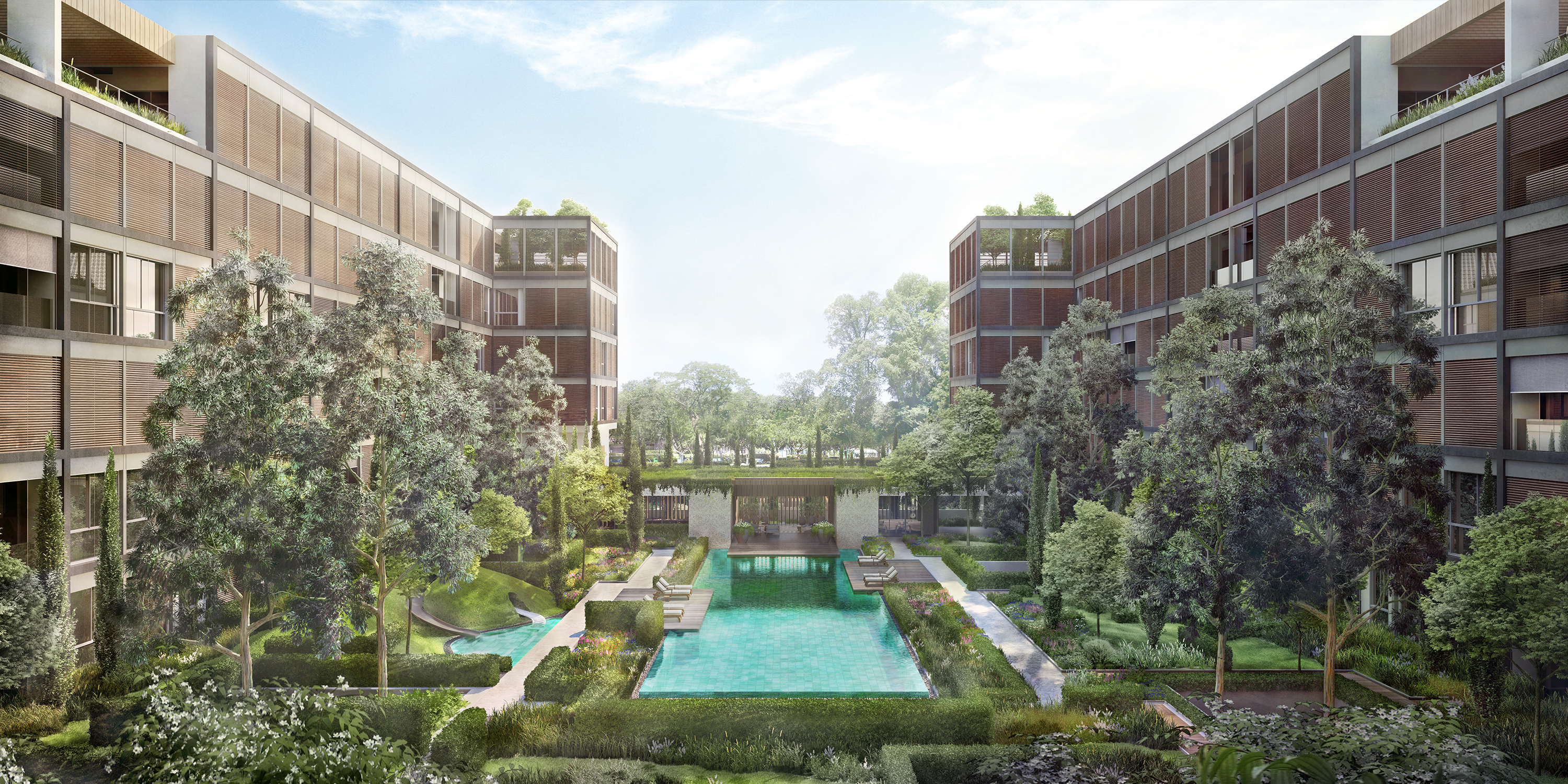 06 View of Courtyard from Lvl 4 - Luxury Property Segment